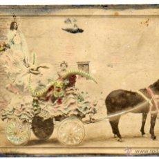 Postales: POSTAL FOTOGRÁFICA ILUMINADA DE LAS PROCESIONES DE LORCA, MURCIA. PAPELERÍAS LUIS MONTIEL.. Lote 50871568