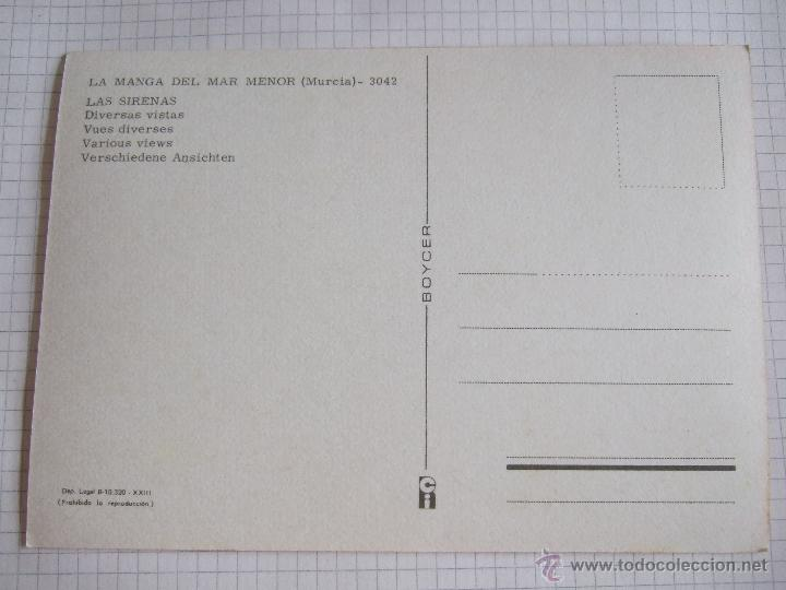 Postales: POSTAL MURCIA - LA MANGA DEL MAR MENOR - LAS SIRENAS - 1980 - BOYCER - SIN CIRCULAR - Foto 2 - 50982995