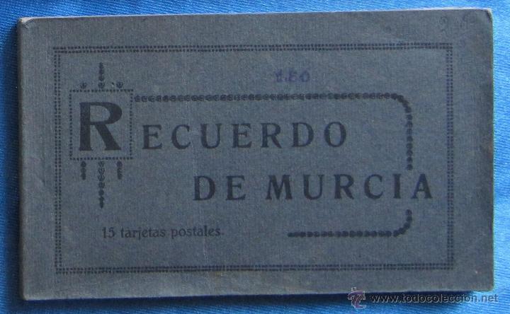 BLOCK CON 15 TARJETAS POSTALES DE MURCIA. EDICION MELERO. (Postales - España - Murcia Antigua (hasta 1.939))