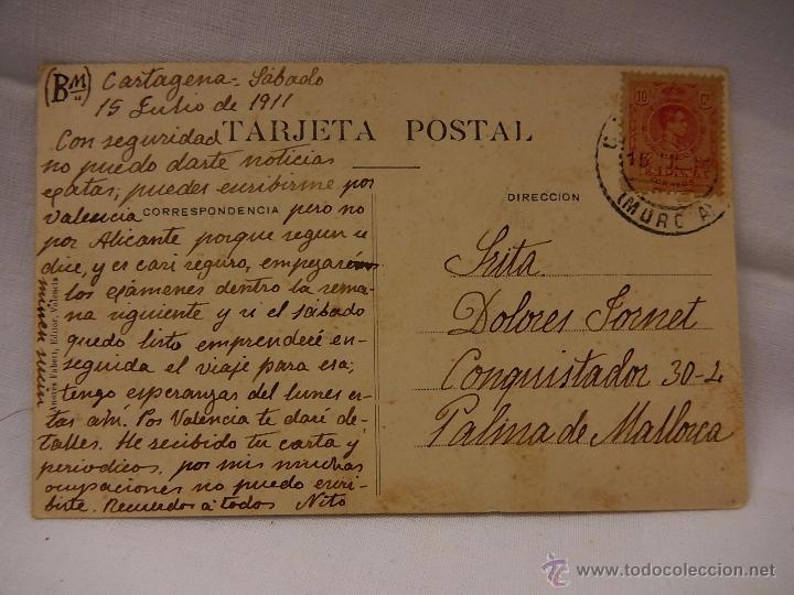Postales: Cartagena. Entrada al Arsenal. Circulada en 1911. Murcia - Foto 2 - 51388740