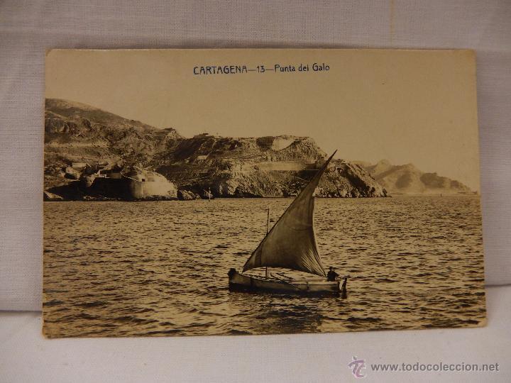 CARTAGENA. PUNTA DEL GALO. MURCIA. CIRCULADA EN 1915. (Postales - España - Murcia Antigua (hasta 1.939))