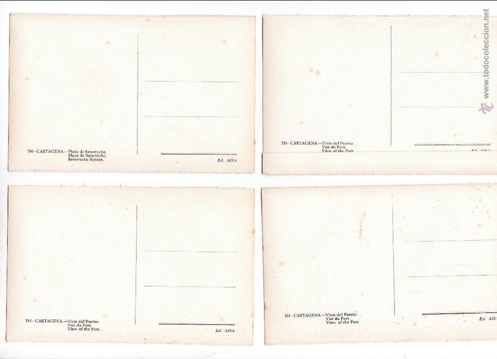 Postales: P-2697. LOTE 5 POSTALES CARTAGENA. ED.AISA. - Foto 3 - 51724505