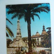 Postales: 2.013.- CARTAGENA. (MURCIA) MONUMENTO A LOS HEROES DE CAVITE Y AYUNTAMIENTO 1961 CIRCULADA . Lote 52868265