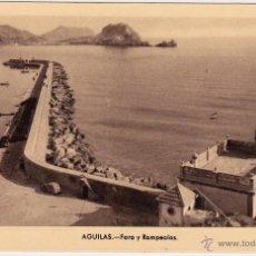 Postales: AGUILAS -MURCIA-EDIC. ARRIBAS-ZARAGOZA -Nº 6 FARO-ROMPEOLAS. Lote 53105771