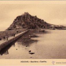 Postales: AGUILAS - MURCIA - ED. ARRIBAS - Nº 5 ESCOLLERA Y CASTILLO. Lote 53311399