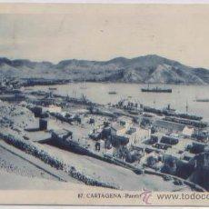 Postales: POSTAL CARTAGENA VISTA DEL PUERTO BARCOS MURCIA ED. CASAU N0 87. Lote 54157159