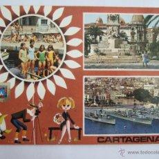 Postales: POSTAL MURCIA - CARTAGENA - MONUMENTO HEROES DE CAVITE PUERTO - 1969 - SUBIRATS - ESCRITA SIN CIRCUL. Lote 54783161