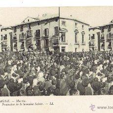 Postales: PS5883 MURCIA 'PROCESIÓN DE SEMANA SANTA'. ESTEROSCÓPICA. LL. SIN CIRCULAR. PRINC. S. XX. Lote 51556522