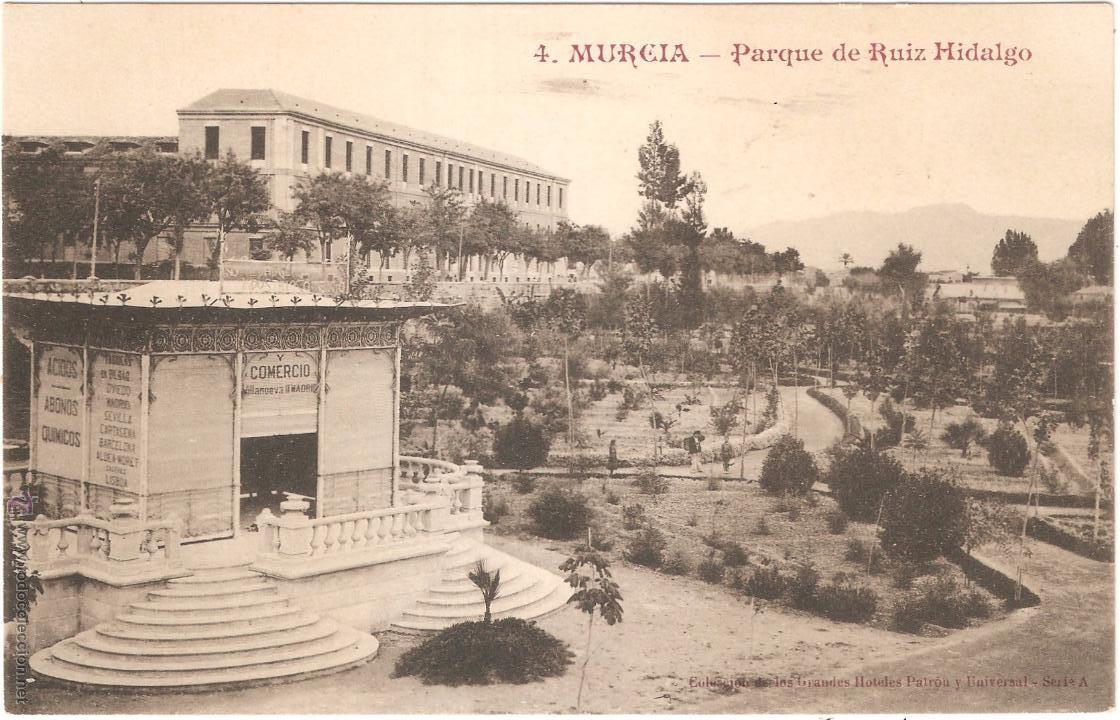 MURCIA PARQUE DE RUIZ HIDALGO (Postales - España - Murcia Antigua (hasta 1.939))