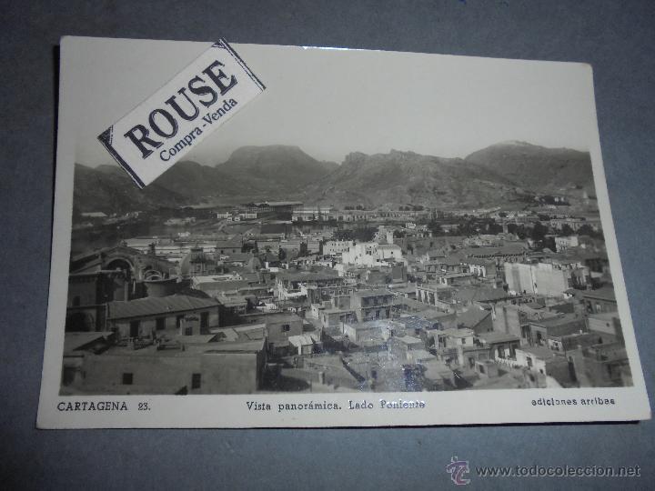 CARTAGENA - 23 VISTA PANORÁMICA , LADO PONIENTE , EDC. ARRIBAS - 14X9 CM. (Postales - España - Murcia Moderna (desde 1.940))