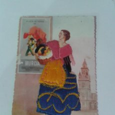 Postales: POSTAL BORDADA, PLAZA TOROS MURCIA. Lote 56472192