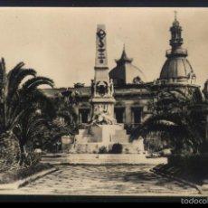 Postales: M-503- MURCIA. CARTAGENA. MONUMENTO A LOS HEROES DE CAVITE Y AYUNTAMIENTO.. Lote 56797512