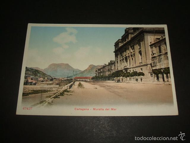 CARTAGENA MURCIA MURALLA DEL MAR ED. P. Z. Nº 47427 (Postales - España - Murcia Antigua (hasta 1.939))