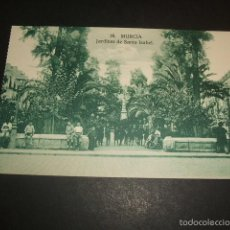 Postales: MURCIA JARDINES DE SANTA ISABEL. Lote 57161334