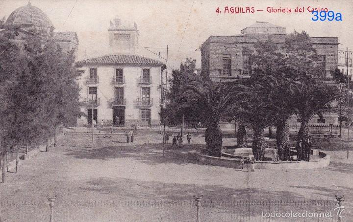 AGUILAS. GLORIETA DEL CASINO - FOTOTIPIA CASTAÑEIRA Y ALVAREZ. MADRID – EDICIÓN EXTRA (Postales - España - Murcia Antigua (hasta 1.939))