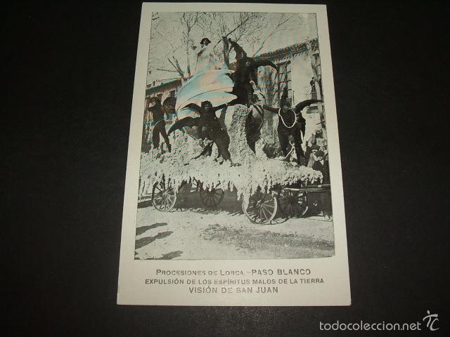 LORCA MURCIA PROCESIONES PASO BLANCO EXPULSION DE LOS ESPIRITUS MALOS DE LA TIERRA VISION DE SAN JUA (Postales - España - Murcia Antigua (hasta 1.939))