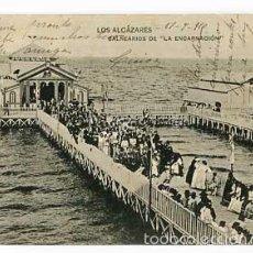 Postales: MURCIA LOS ALCAZARES BALNEARIOS DE LA ENCARNACION . IMP. HAUSER Y MENET. CIRCULADA. Lote 58141726