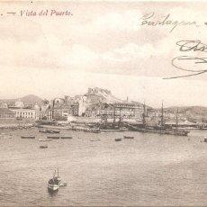 Postales: CARTAGENA VISTA DEL PUERTO 1910. Lote 172674430