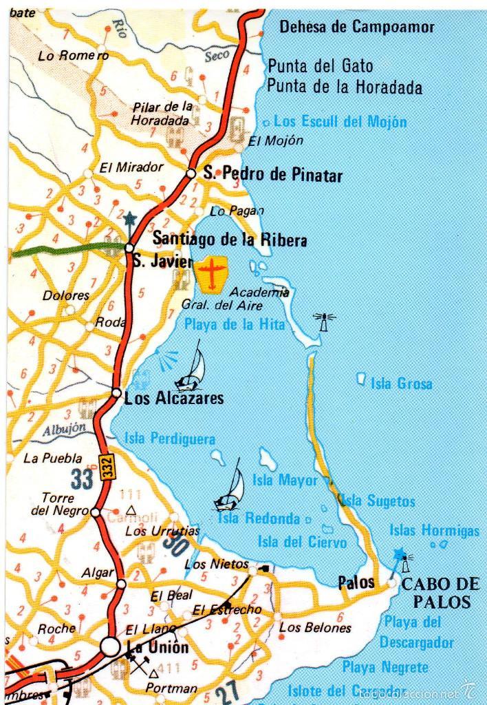 Mapa Mar Menor Murcia