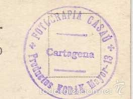 Postales: Postal fotográfica. Vista de la Estación de ferrocarril. Cartagena. Fotografía Casau. - Foto 2 - 59632339