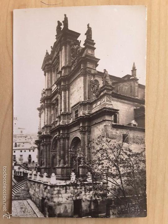POSTAL DE LORCA - FACHADA DE LA EXCOLEGIATA (Postales - España - Murcia Antigua (hasta 1.939))