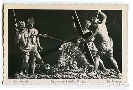 ( MURCIA ) FIGURAS DE SALCILLO CAIDA ED. ARRIBAS 145. SIN CIRCULAR (Postales - España - Murcia Moderna (desde 1.940))