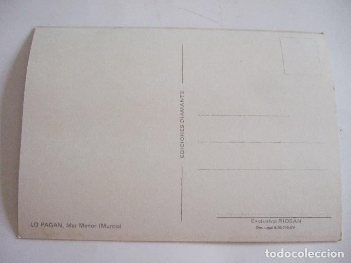 Postales: POSTAL MURCIA - SAN PEDRO DEL PINATAR - LO PAGAN - 1972 - DIAMANTE RIOSAN - SIN CIRCULAR - Foto 2 - 62163892
