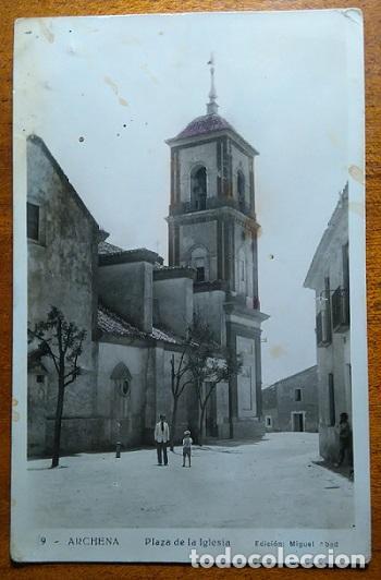 ARCHENA PLAZA DE LA IGLESIA EDICION MIGUEL ABAD MURCIA (Postales - España - Murcia Antigua (hasta 1.939))