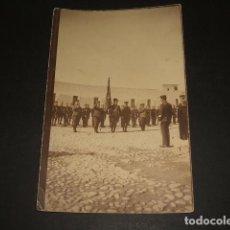 Postales: CARTAGENA MURCIA ACTO MILITAR EN CUARTEL POSTAL FOTOGRAFICA 1921. Lote 64721495