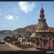 Postales: M-593- MURCIA. CARTAGENA. PUERTO Y MONUMENTO A LOS HEROES DE CAVITE.. Lote 66974974