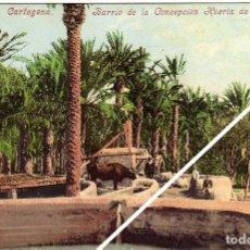 Postales: PRECIOSA POSTAL - CARTAGENA (MURCIA) - BARRIO DE LA CONCEPCION - HUERTA DE LOS PALMEROS. AMBIENTADA. Lote 35608228