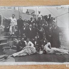Postales: POSTAL CARTAGENA - MURCIA - MAYO 1917 - GENTE ÉPOCA EN BARCO MARINO - MARINEROS (VER FOTO ADICIONAL). Lote 67917865
