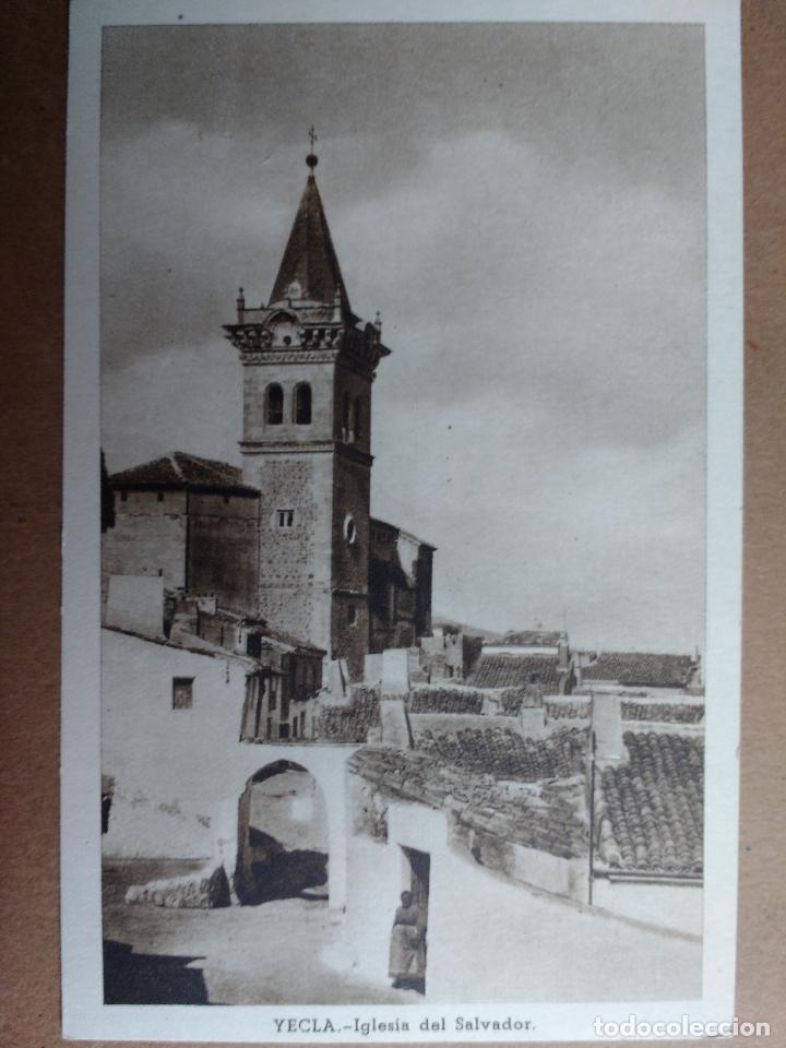 YECLA, MURCIA, IGLESIA DEL SALVADOR (Postales - España - Murcia Antigua (hasta 1.939))