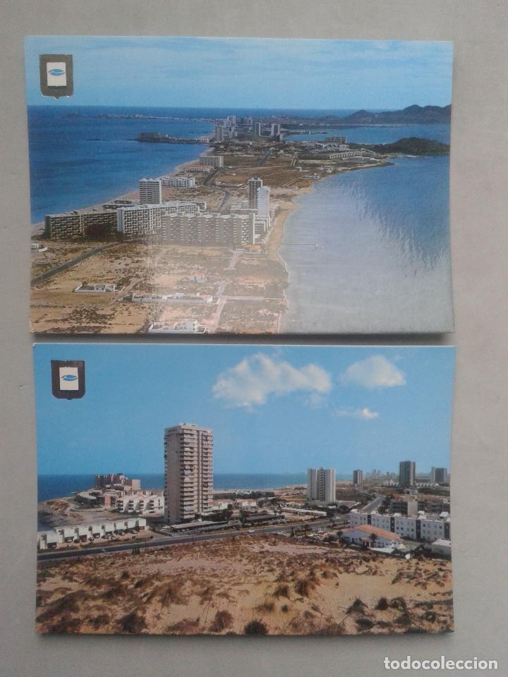 LOTE DE 2 POSTALES DE LA MANGA DEL MAR MENOR. MURCIA. (Postales - España - Murcia Moderna (desde 1.940))