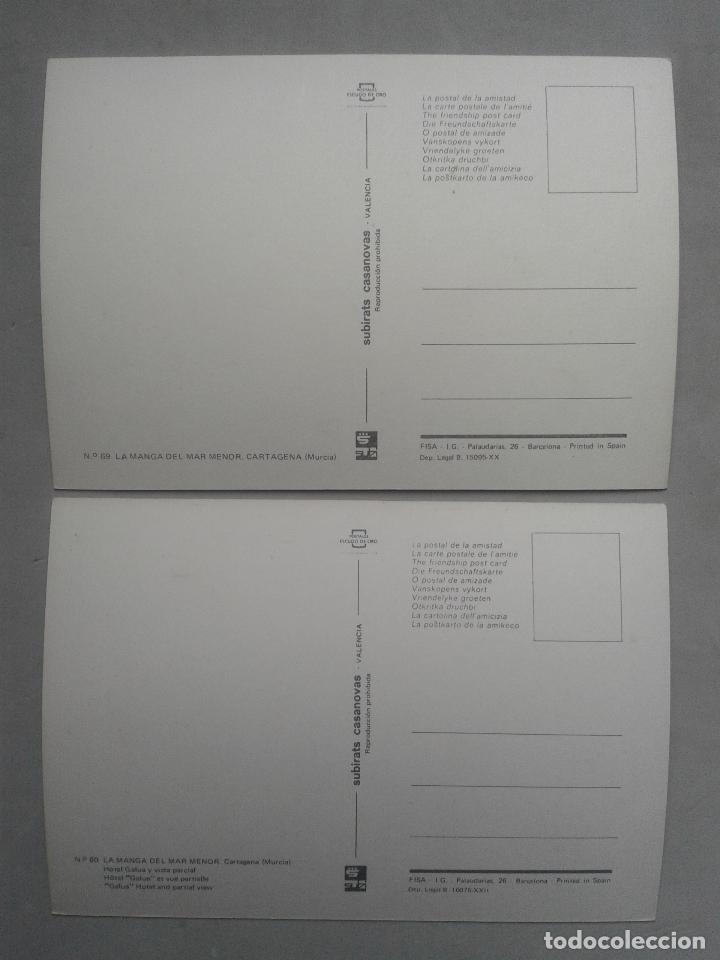 Postales: Lote de 2 Postales de La Manga del Mar Menor. Murcia. - Foto 2 - 69366869