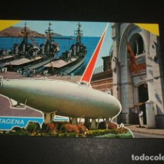 Postales: CARTAGENA MURCIA FLOTA, CUARTEL Y SUBMARINO PERAL. Lote 71059061