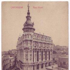 Postales: CARTAGENA (MURCIA): GRAN HOTEL. ED. J. CASAÚ, FOTÓGRAFO. CIRCULADA (AÑOS 10). Lote 74248163