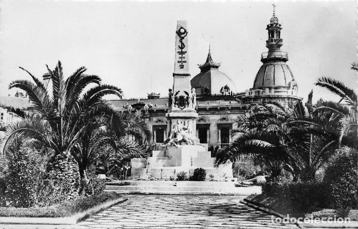 CARTAGENA.-. MONUMENTO A LOS HÉROES DE CAVITE Y AYUNTAMIENTO (Postales - España - Murcia Moderna (desde 1.940))