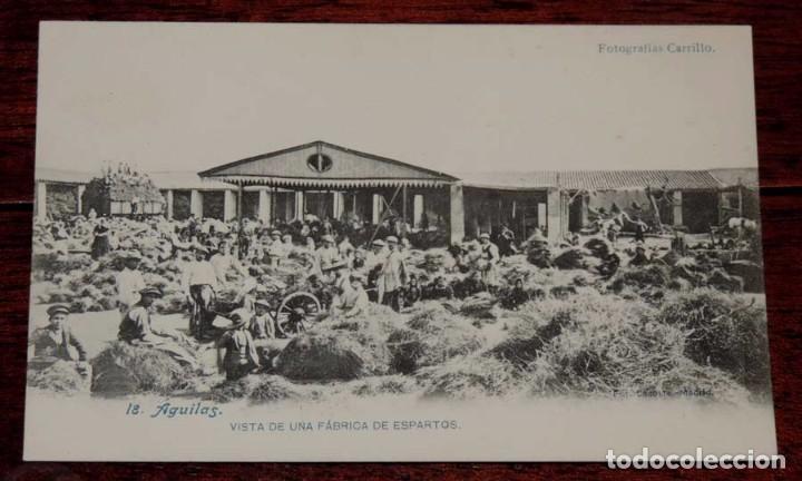 POSTAL DE AGUILAS, N. 18, VISTA DE UNA FABRICA DE ESPARTOS, FOTOGRAFIAS CARRILLO, ED. J. LACOSTE, MA (Postales - España - Murcia Antigua (hasta 1.939))
