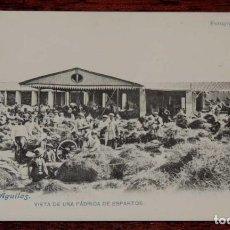 Postales: POSTAL DE AGUILAS, N. 18, VISTA DE UNA FABRICA DE ESPARTOS, FOTOGRAFIAS CARRILLO, ED. J. LACOSTE, MA. Lote 78201521