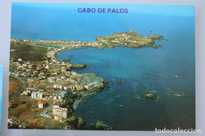 Postales: ANTIGUAS POSTALES CABO DE PALOS MURCIA: CALA FLORES FARO CARTAGENA – AÑOS 60 CIRCULADAS BUEN ESTADO - Foto 2 - 79523809
