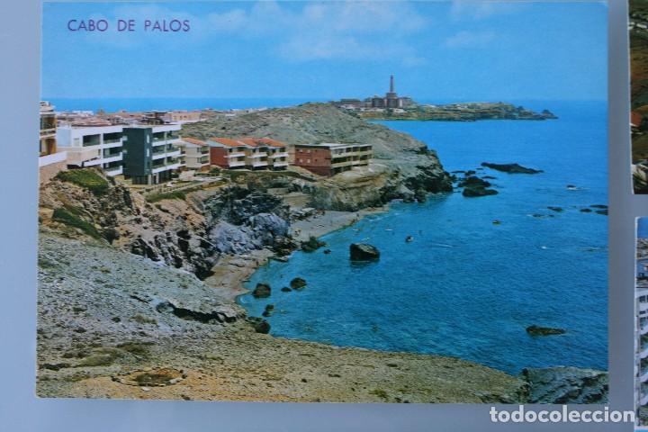 Postales: ANTIGUAS POSTALES CABO DE PALOS MURCIA: CALA FLORES FARO CARTAGENA – AÑOS 60 CIRCULADAS BUEN ESTADO - Foto 3 - 79523809