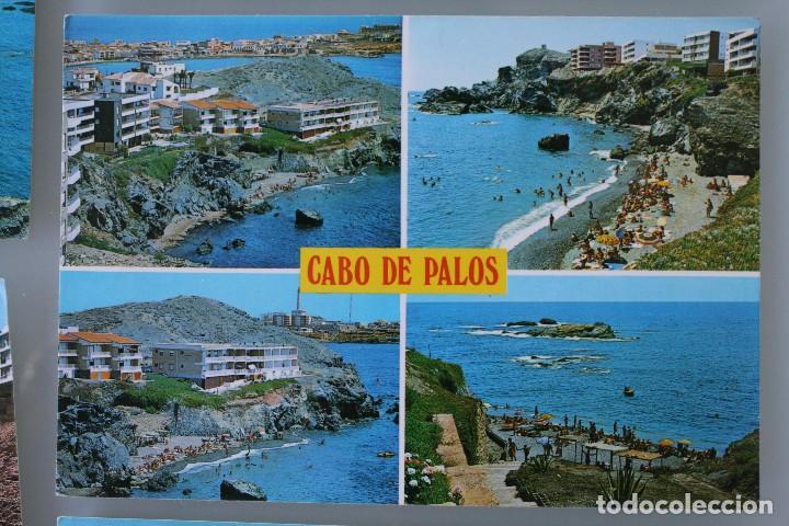 Postales: ANTIGUAS POSTALES CABO DE PALOS MURCIA: CALA FLORES FARO CARTAGENA – AÑOS 60 CIRCULADAS BUEN ESTADO - Foto 4 - 79523809