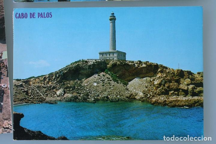 Postales: ANTIGUAS POSTALES CABO DE PALOS MURCIA: CALA FLORES FARO CARTAGENA – AÑOS 60 CIRCULADAS BUEN ESTADO - Foto 5 - 79523809