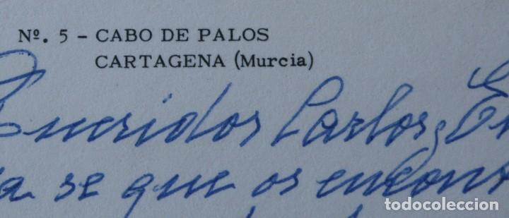 Postales: ANTIGUAS POSTALES CABO DE PALOS MURCIA: CALA FLORES FARO CARTAGENA – AÑOS 60 CIRCULADAS BUEN ESTADO - Foto 7 - 79523809