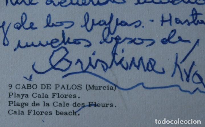 Postales: ANTIGUAS POSTALES CABO DE PALOS MURCIA: CALA FLORES FARO CARTAGENA – AÑOS 60 CIRCULADAS BUEN ESTADO - Foto 9 - 79523809