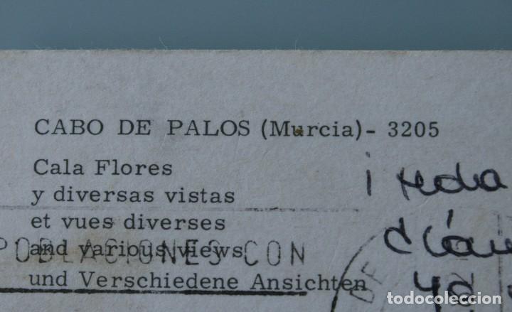 Postales: ANTIGUAS POSTALES CABO DE PALOS MURCIA: CALA FLORES FARO CARTAGENA – AÑOS 60 CIRCULADAS BUEN ESTADO - Foto 10 - 79523809