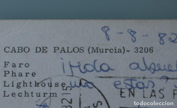 Postales: ANTIGUAS POSTALES CABO DE PALOS MURCIA: CALA FLORES FARO CARTAGENA – AÑOS 60 CIRCULADAS BUEN ESTADO - Foto 11 - 79523809