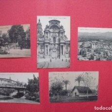 Postales: MURCIA.-POSTALES.-FOTOTIPIA THOMAS.-BARCELONA.-LOTE DE 5 POSTALES ANTIGUAS.. Lote 81663068
