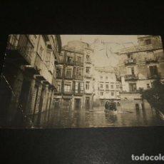 Postales: CARTAGENA MURCIA POSTAL FOTOGRAFICA CASAU FOTOGRAFO INUNDACION PLAZA DE LAS MONJAS. Lote 81697204